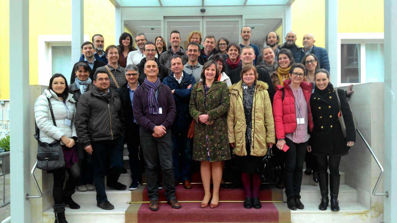 Participantes en SoilVeg durante la reunión de lanzamiento del proyecto en Matera (Italia) – 18/03/2015